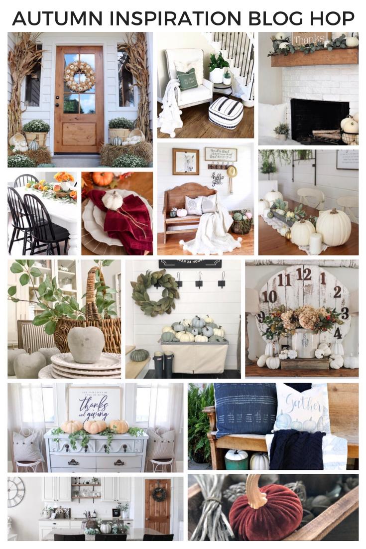 Autumn Inspiration Blog Hop   fall decor, autumn decor, fall farmhouse decor, fall entry, fall dining room