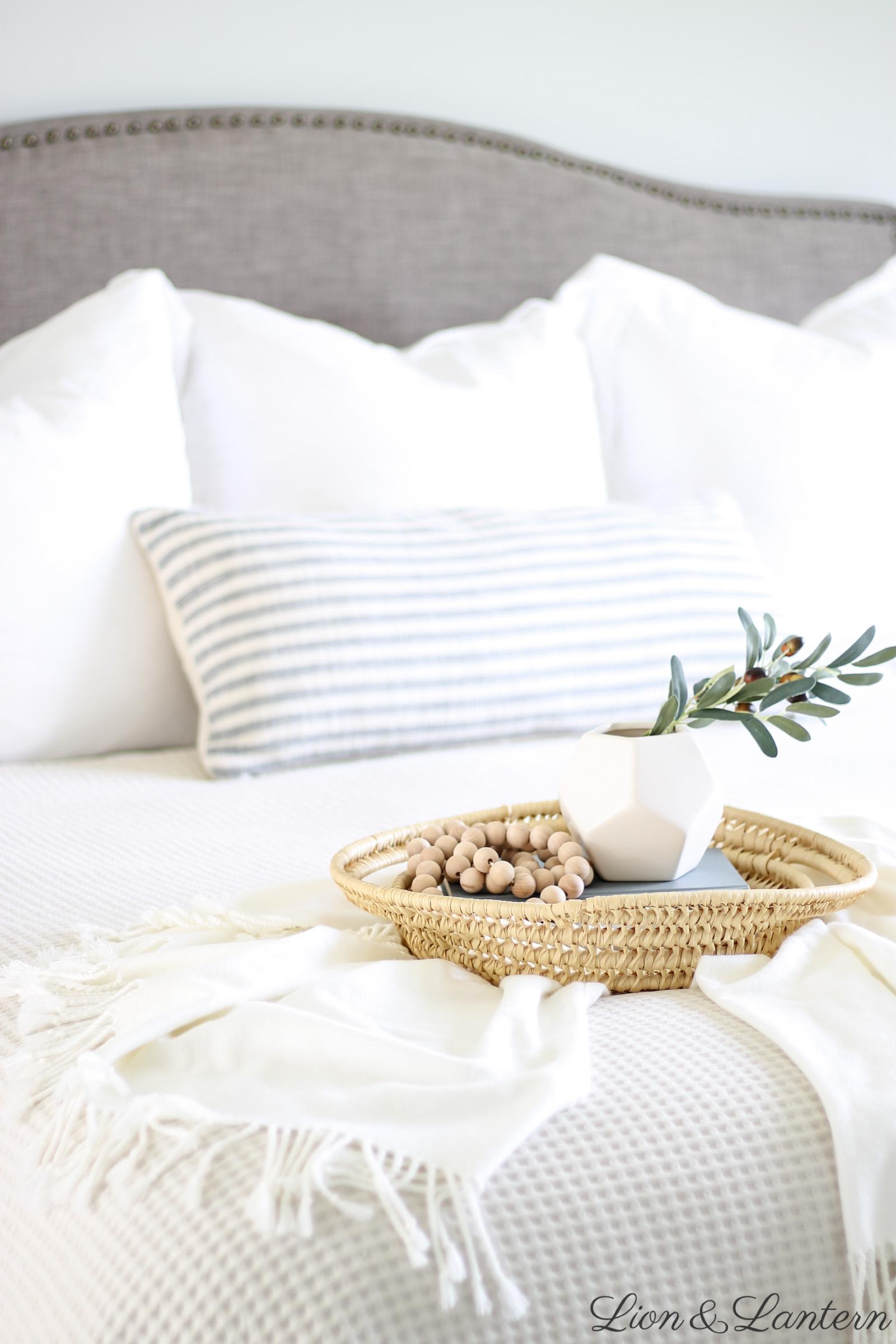 Modern Coastal Master Bedroom Thrifted Decor Caitlin Marie Design