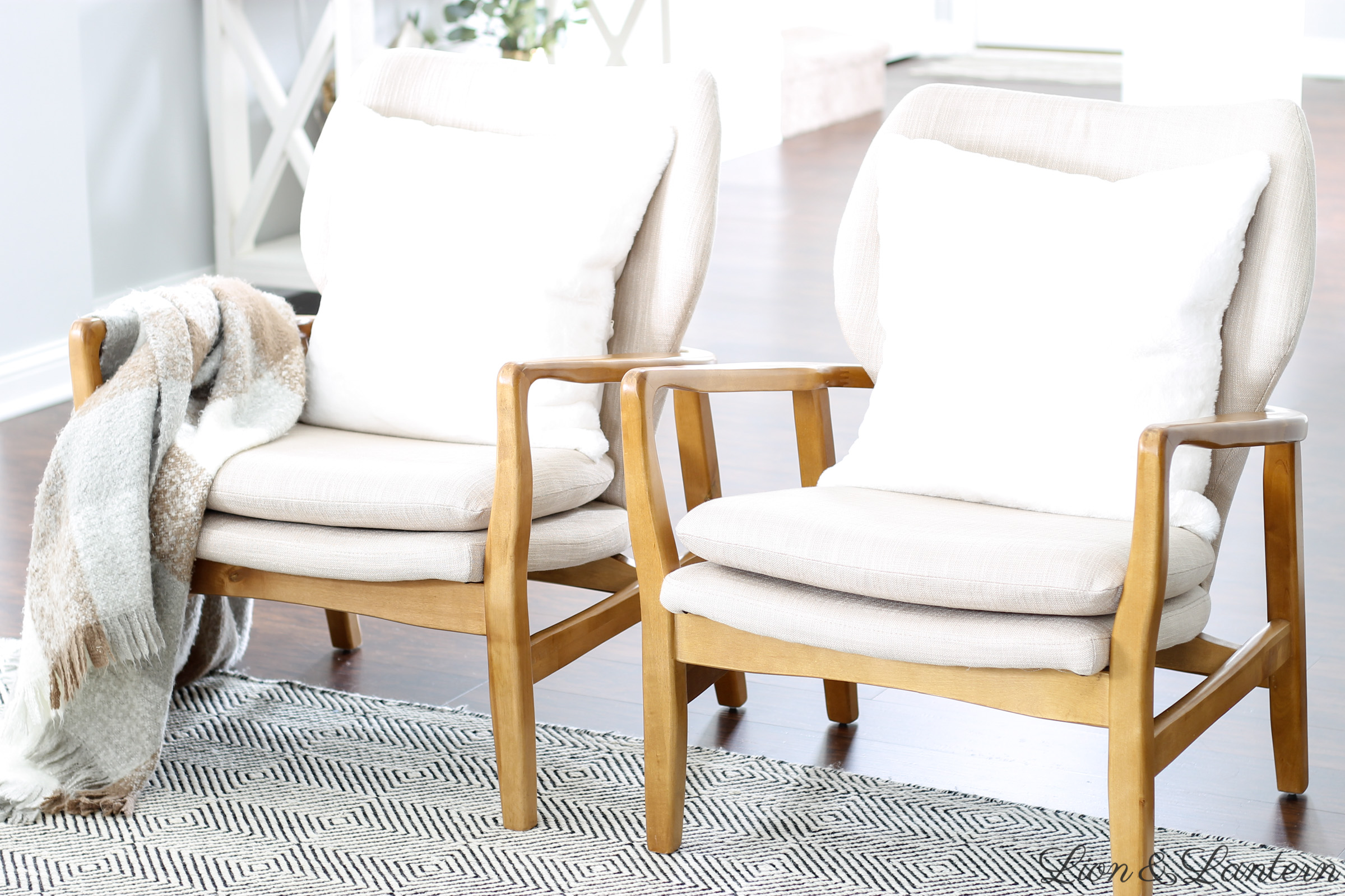 Coastal Modern Accent Chairs at LionAndLantern.com | Haddie Wood Frame Club Chair by Christopher Knight Home, modern accent chair, neutral accent chair, coastal farmhouse, bright and airy home
