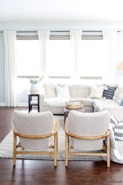 Coastal Modern Accent Chairs at LionAndLantern.com | modern accent chair, neutral accent chair, coastal farmhouse, bright and airy home