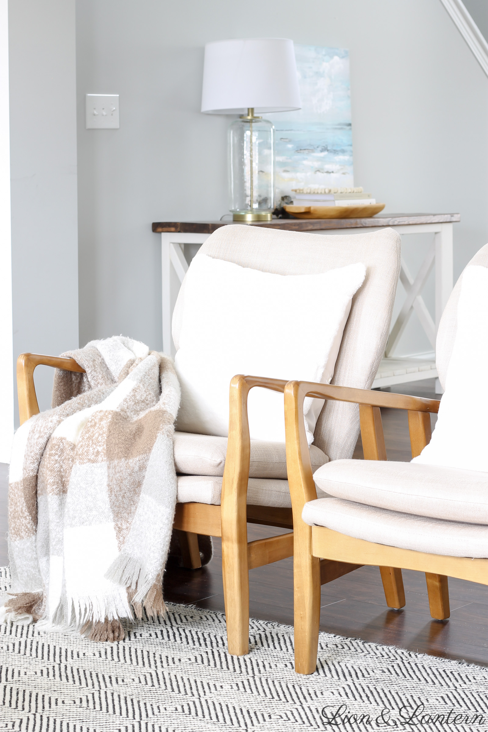 Modern Formal Living Room, Coastal Modern Affordable Accent Chairs Caitlin Marie Design