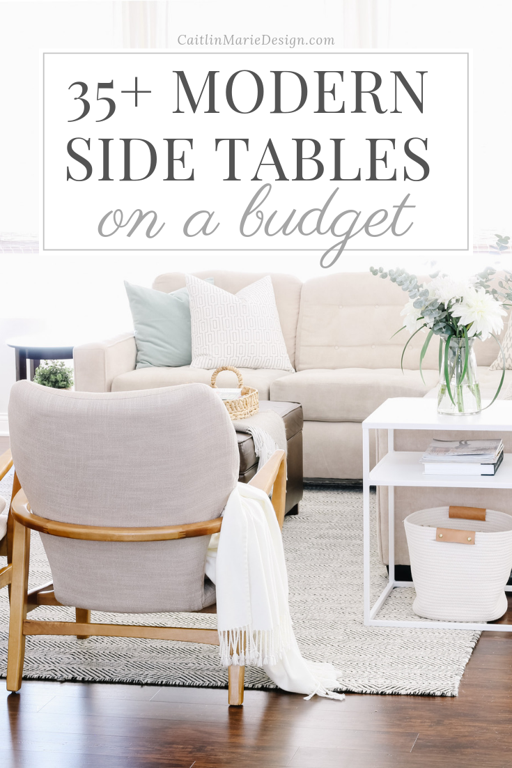 35+ Modern Side Tables on a Budget | accent table, end table, metal side table, coastal farmhouse, California style, organic decor, neutral living room