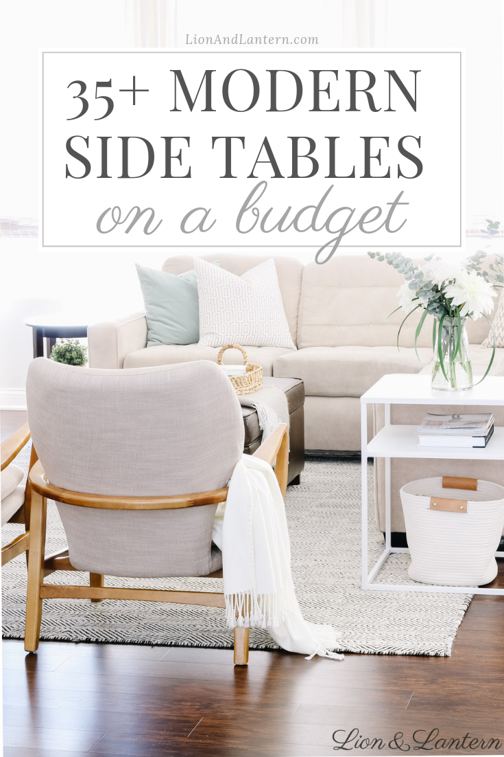 35+ Modern Side Tables on a Budget at LionAndLantern.com | accent table, end table, metal side table, coastal farmhouse, California style, organic decor, neutral living room