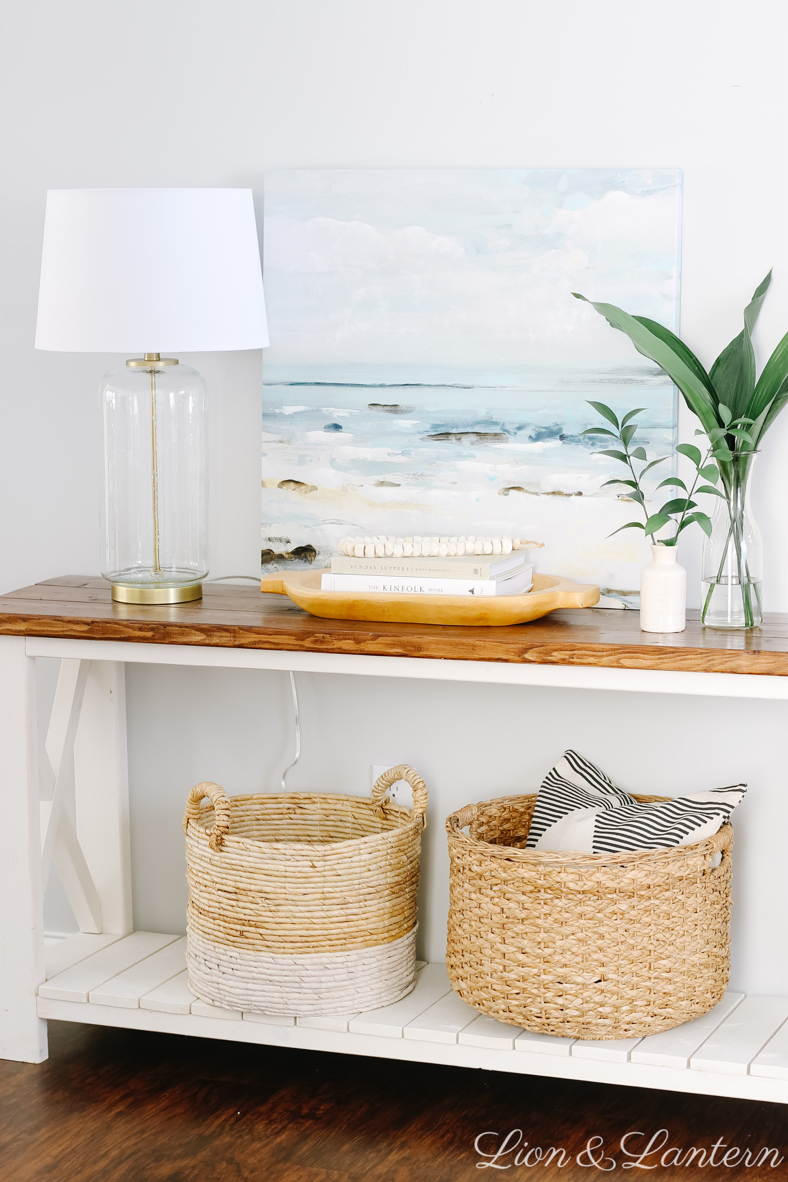 Spring Home Tour 2019 at LionAndLantern.com | entryway, coastal home, minimalist decor, california decor, budget decorating, modern boho
