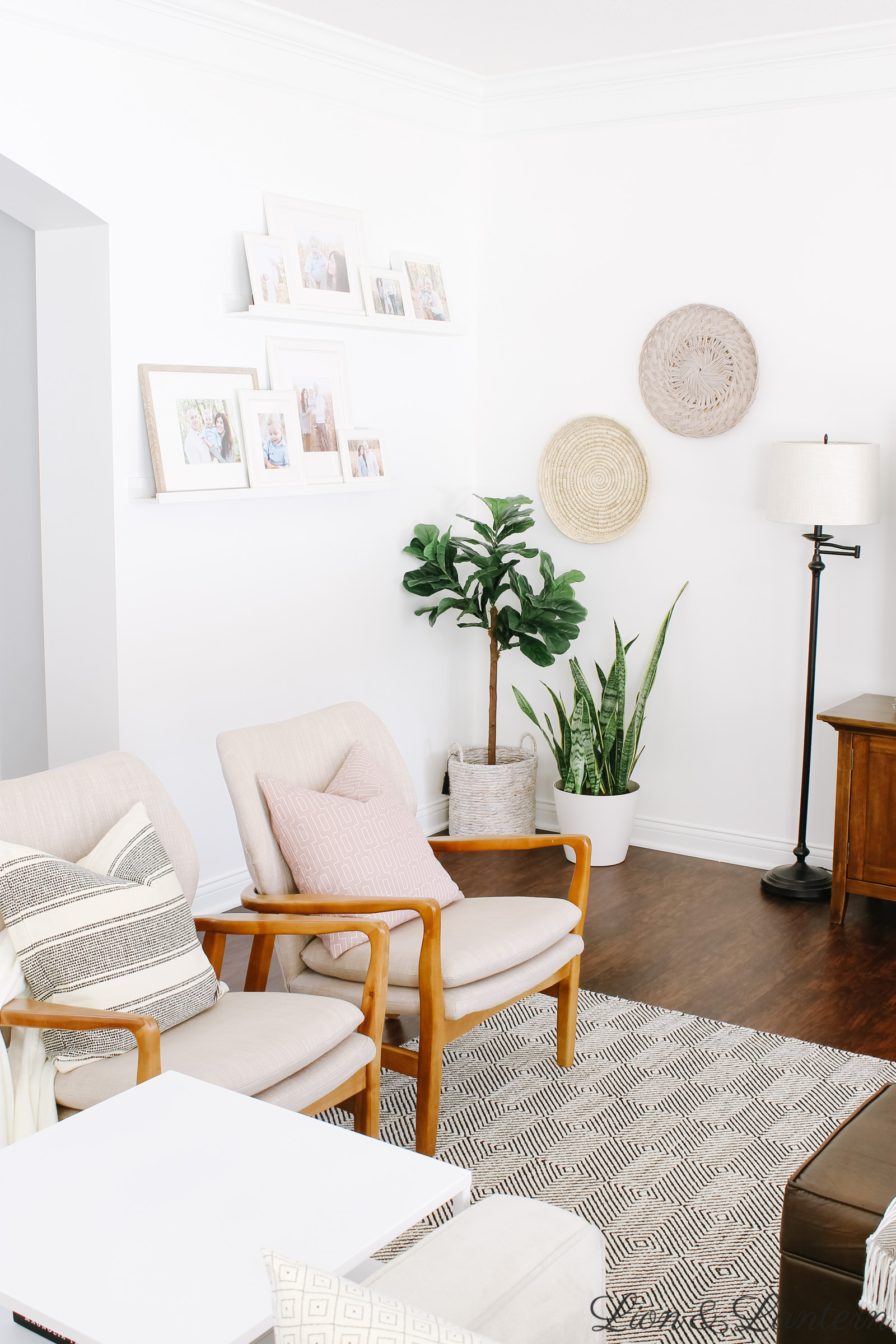 Spring Home Tour 2019 at LionAndLantern.com | spring living room decor, eucalyptus, modern accent chairs, budget decorating, neutral living room, Haddie Wood Frame Club Chair