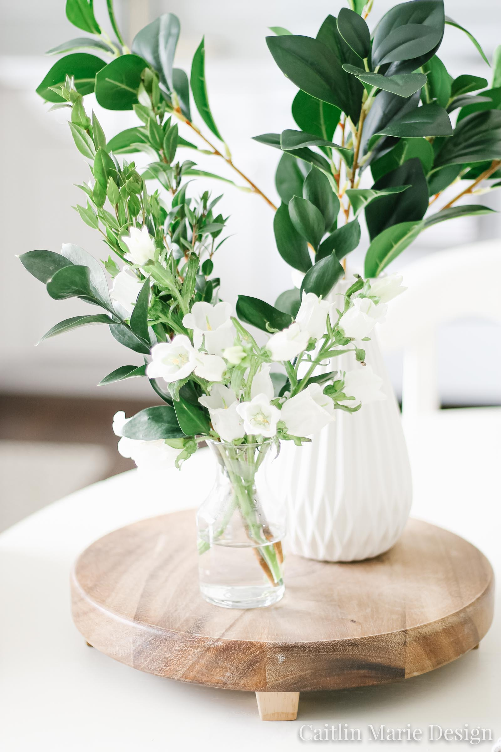 Summer Home Tour 2019 | white kitchen, antique books, greenery, minimalist decor, white subway tile, vintage
