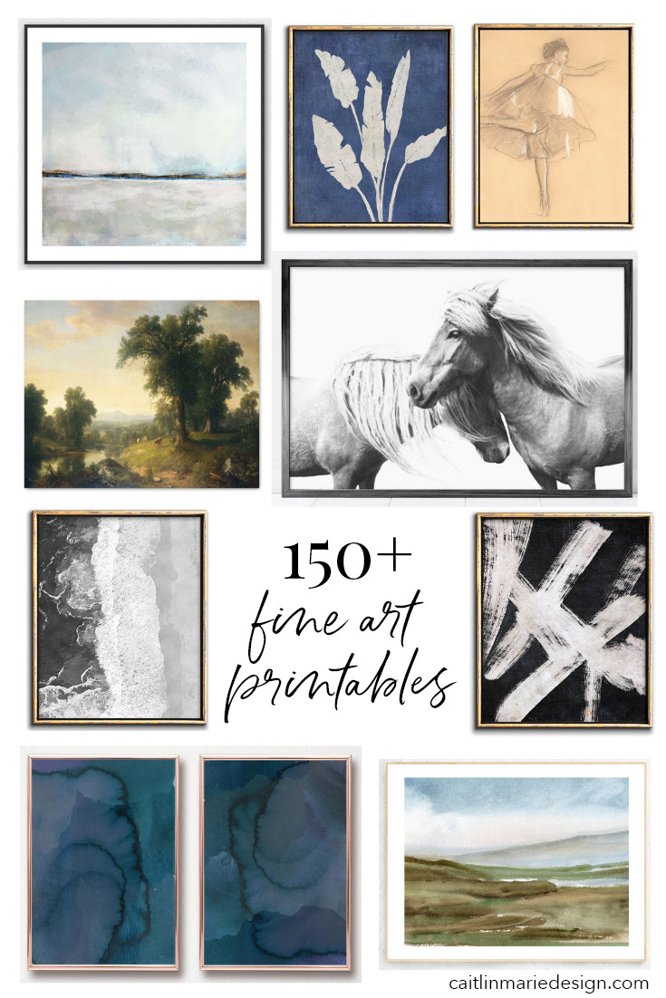 graphic regarding Etsy Printables identified as 150+ Fantastic Artwork Printables versus Etsy - Caitlin Marie Structure