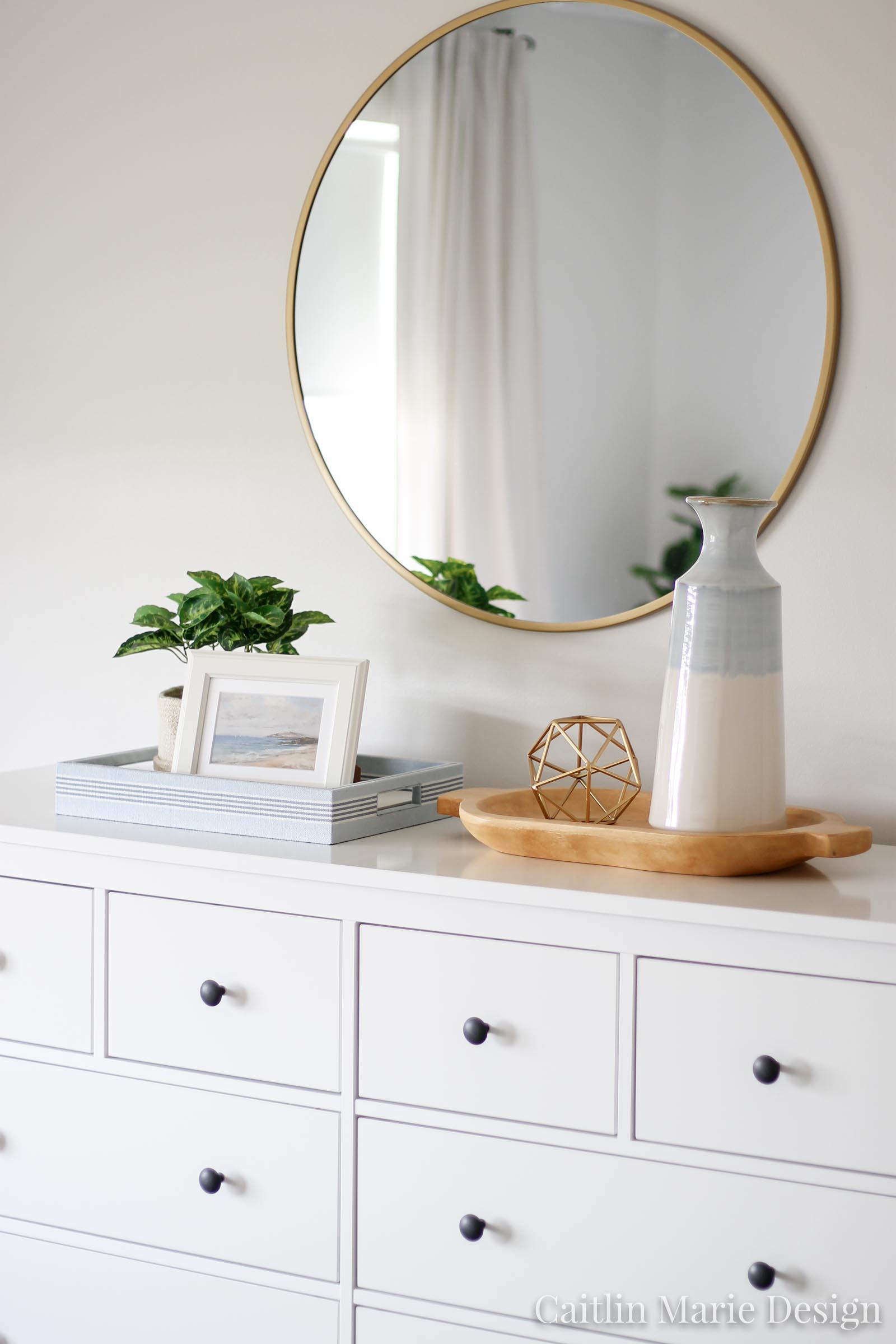 Casual Coastal Master Bedroom Update | IKEA Hemnes 8 drawer dresser, modern traditional decor, minimalist style, boho home