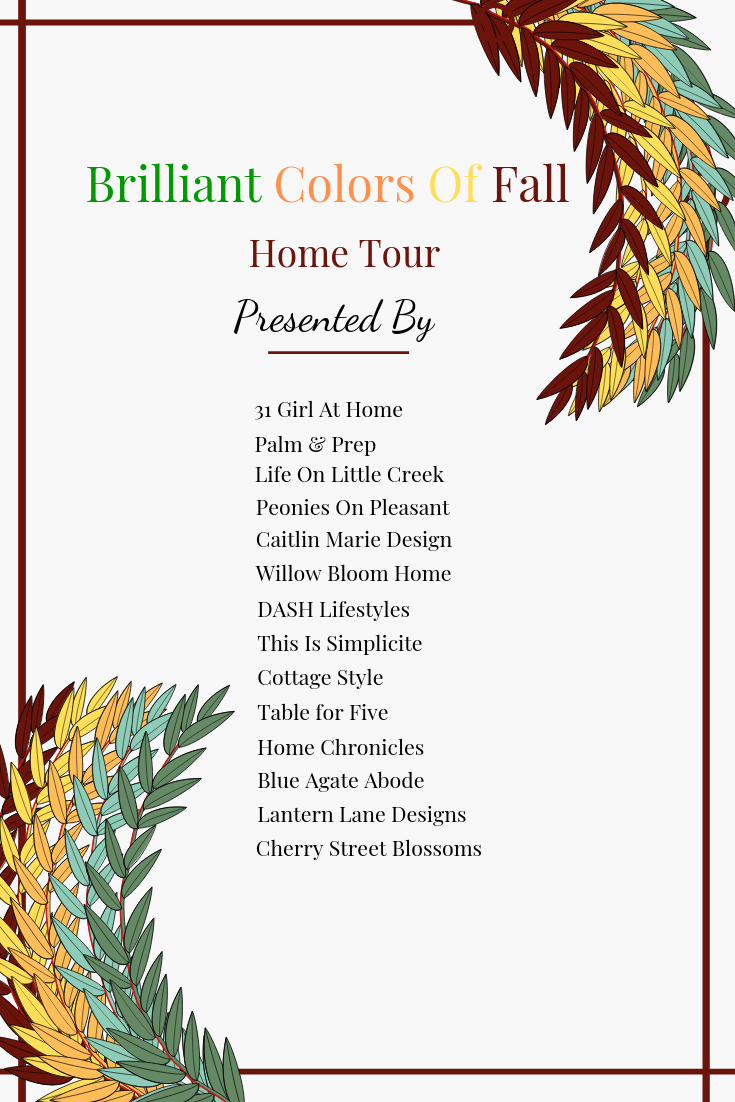 Brilliant Colors of Fall Home Tour blog hop