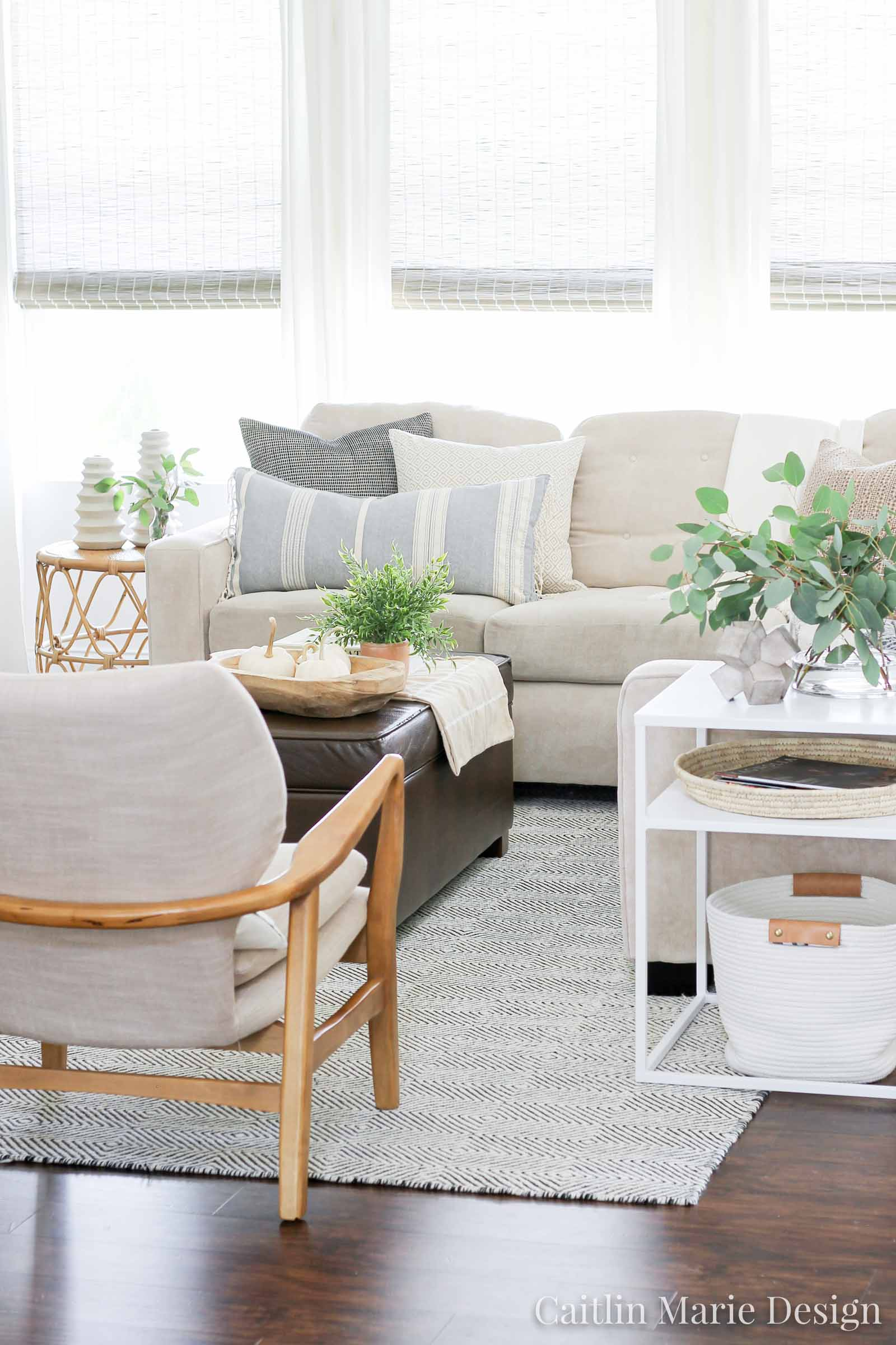 Fall Home Tour 2019 | autumn decor, modern traditional, coastal home, neutral, budget friendly