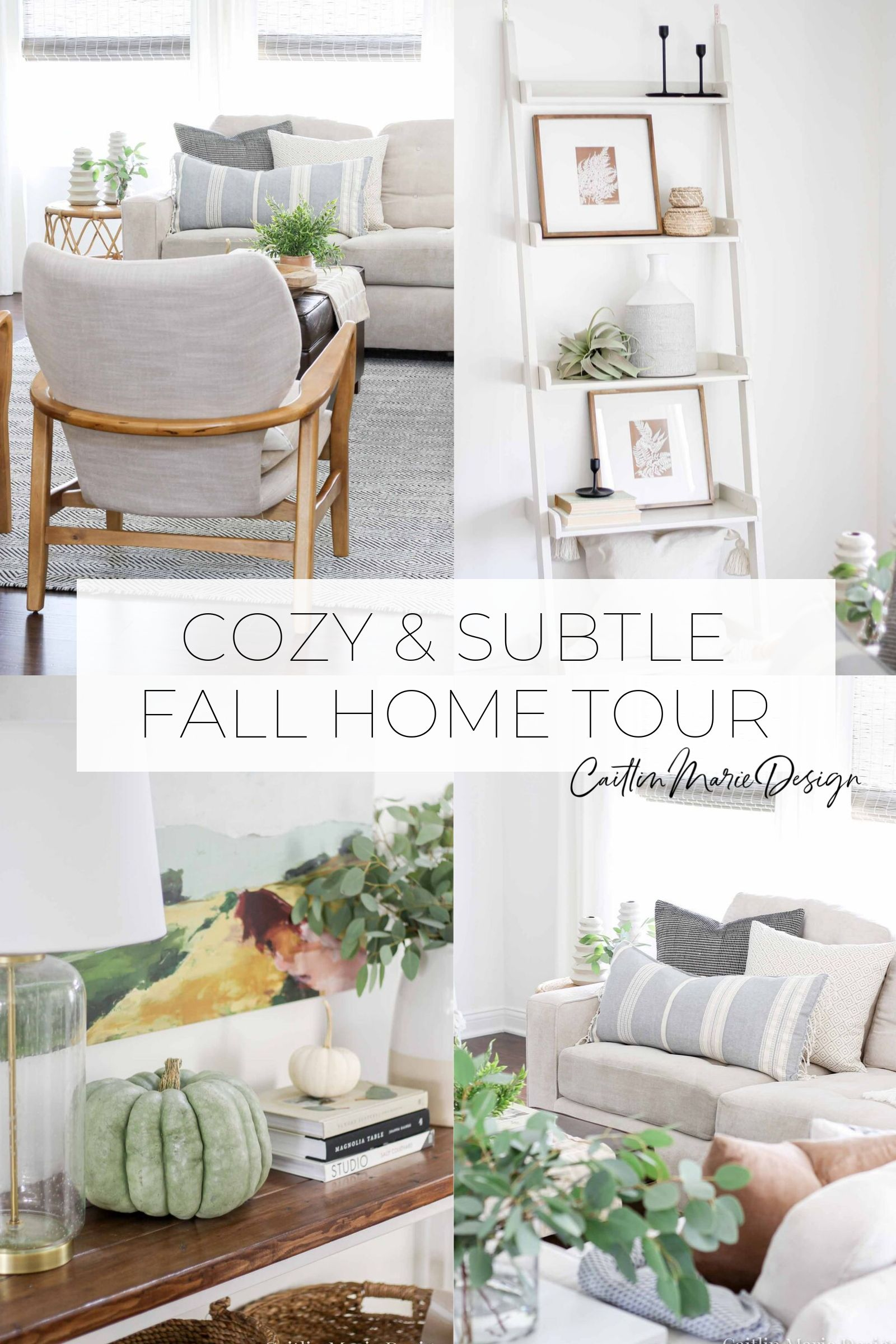Fall Home Tour 2019 | fall decor, minimalist, modern traditional, coastal home, neutral, budget friendly