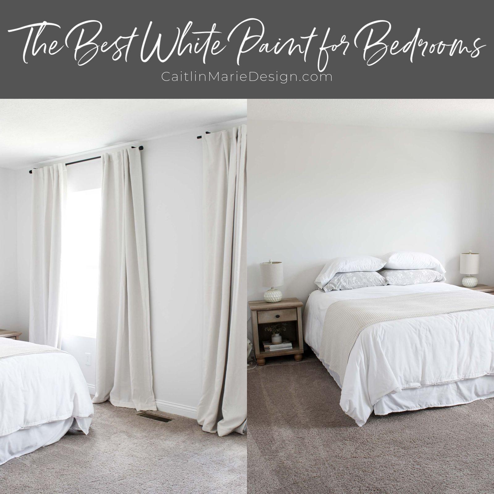 The Best White Paint for Bedrooms | choosing white paint colors, warm undertones