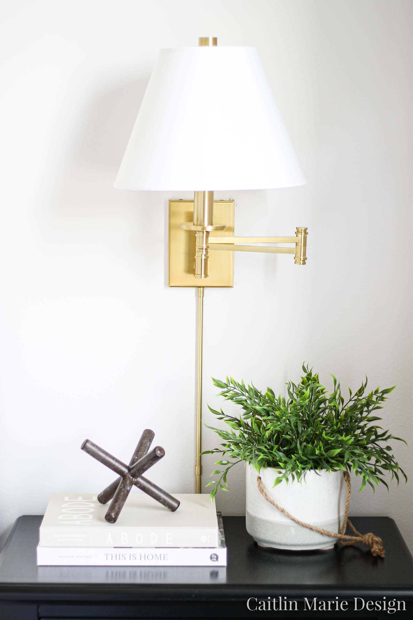 One Room Challenge Fall 2019 Reveal   modern traditional bedroom decor, brass wall sconces, metal asterisk