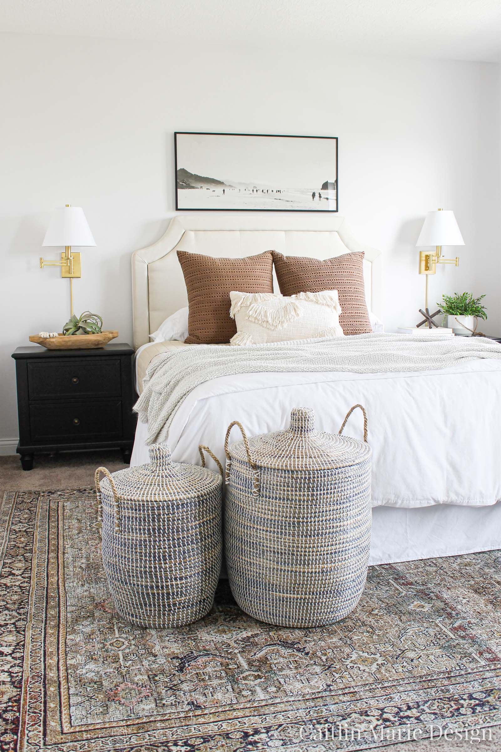 One Room Challenge Reveal Fall 2019 Modern Traditional Guest Bedroom Caitlin Marie Design