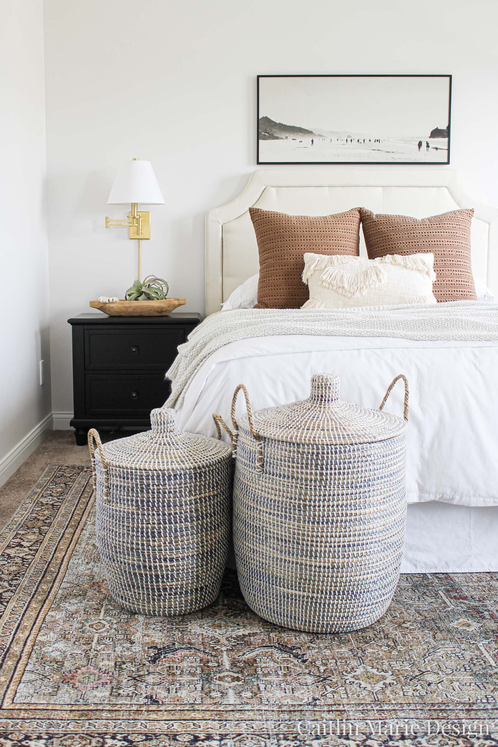 Interior Photography Tips for Designers and Bloggers | brass swing arm sconces, modern traditional decor, loloi Layla rug