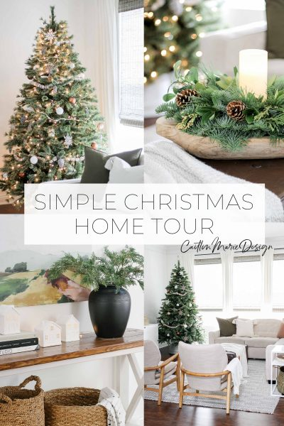 Christmas Home Tour 2019 | minimalist home, neutral Christmas, modern traditional home