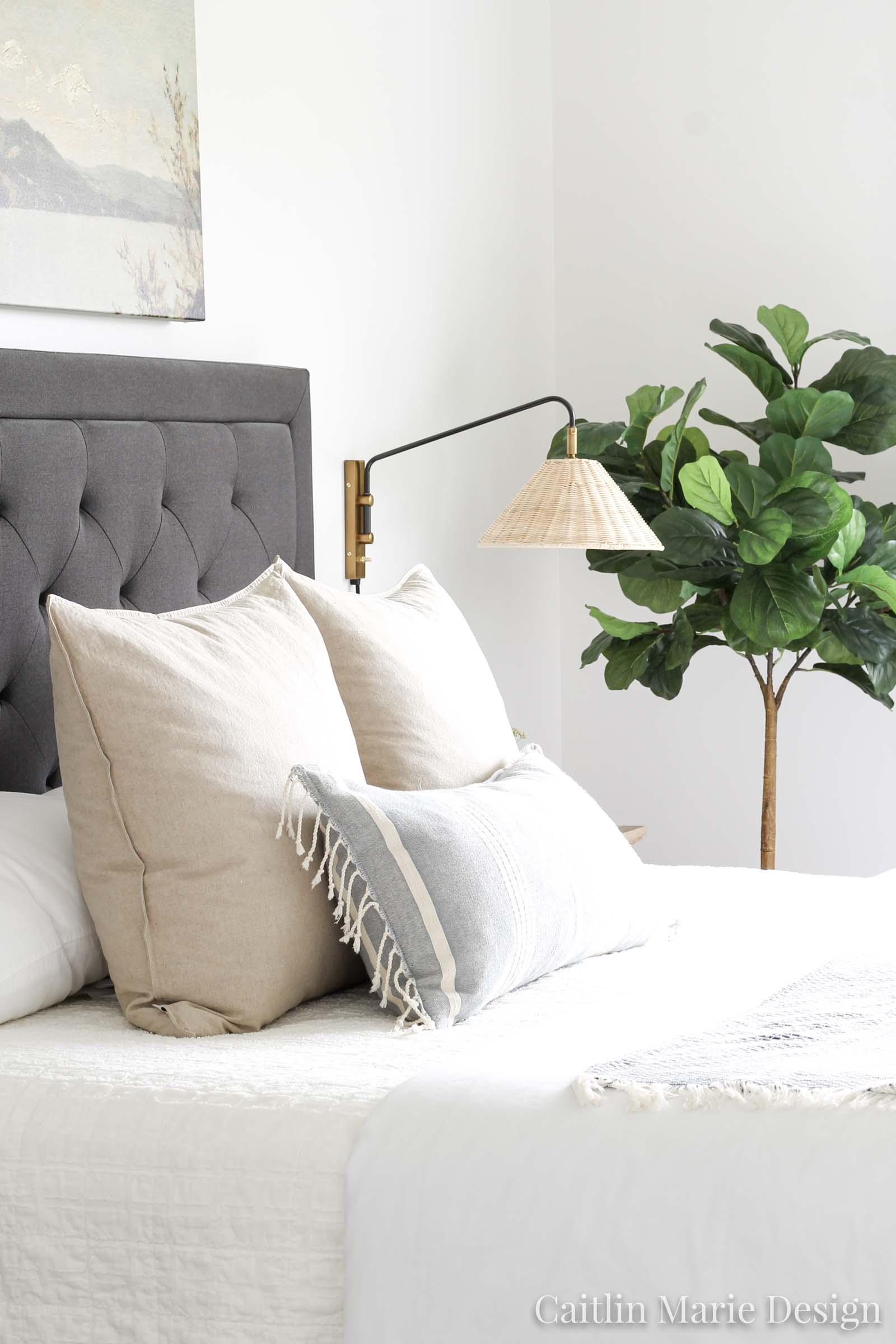 Bedroom Sconces Coastal Master Bedroom Caitlin Marie Design