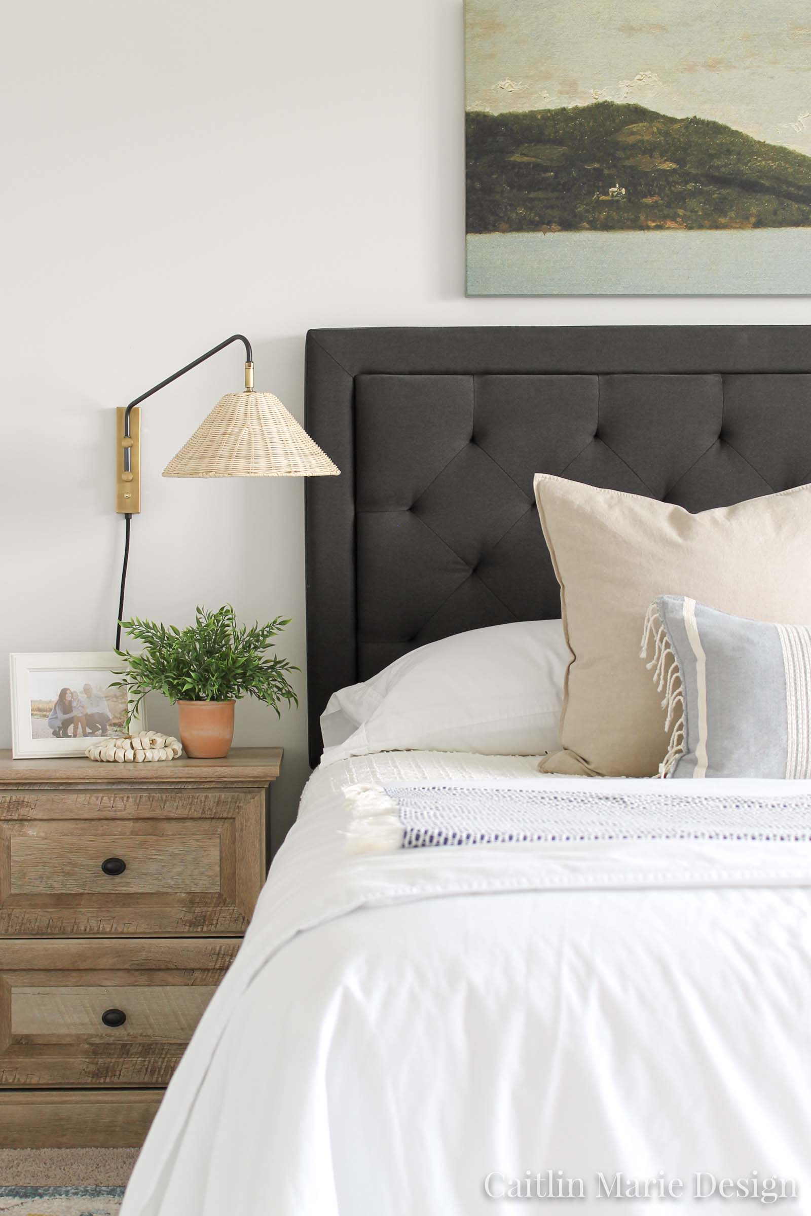 Bedroom Sconces Coastal Master Bedroom Caitlin Marie Design