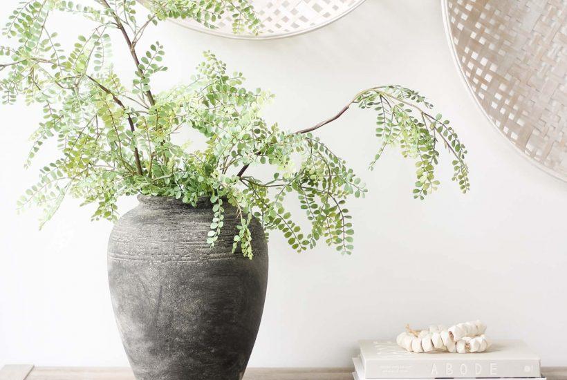 Aged Stone Vase or Found Pot DIY | vintage jar, found pot tutorial, modern traditional decor, ceramic vase, charcoal vase, Studio McGee style