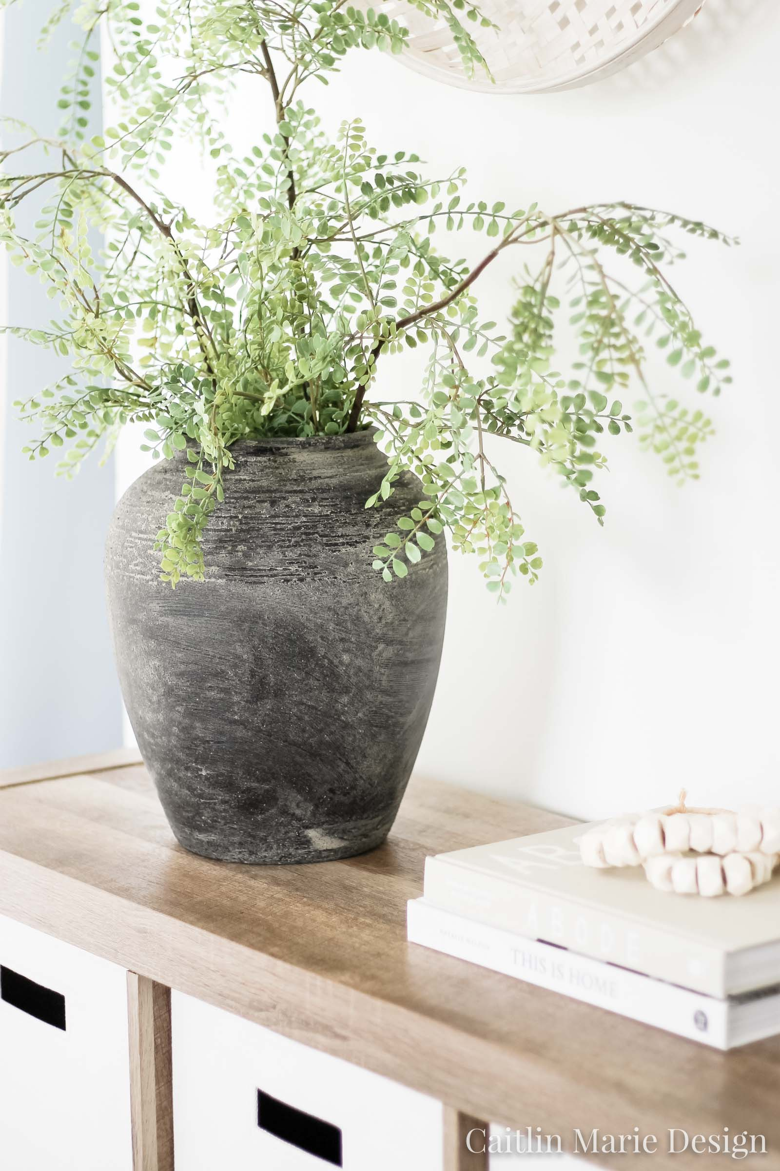 How to DIY an Aged Stone Vase or Found Pot | vintage jar, found pot tutorial, modern traditional decor, ceramic vase, charcoal vase, Studio McGee style
