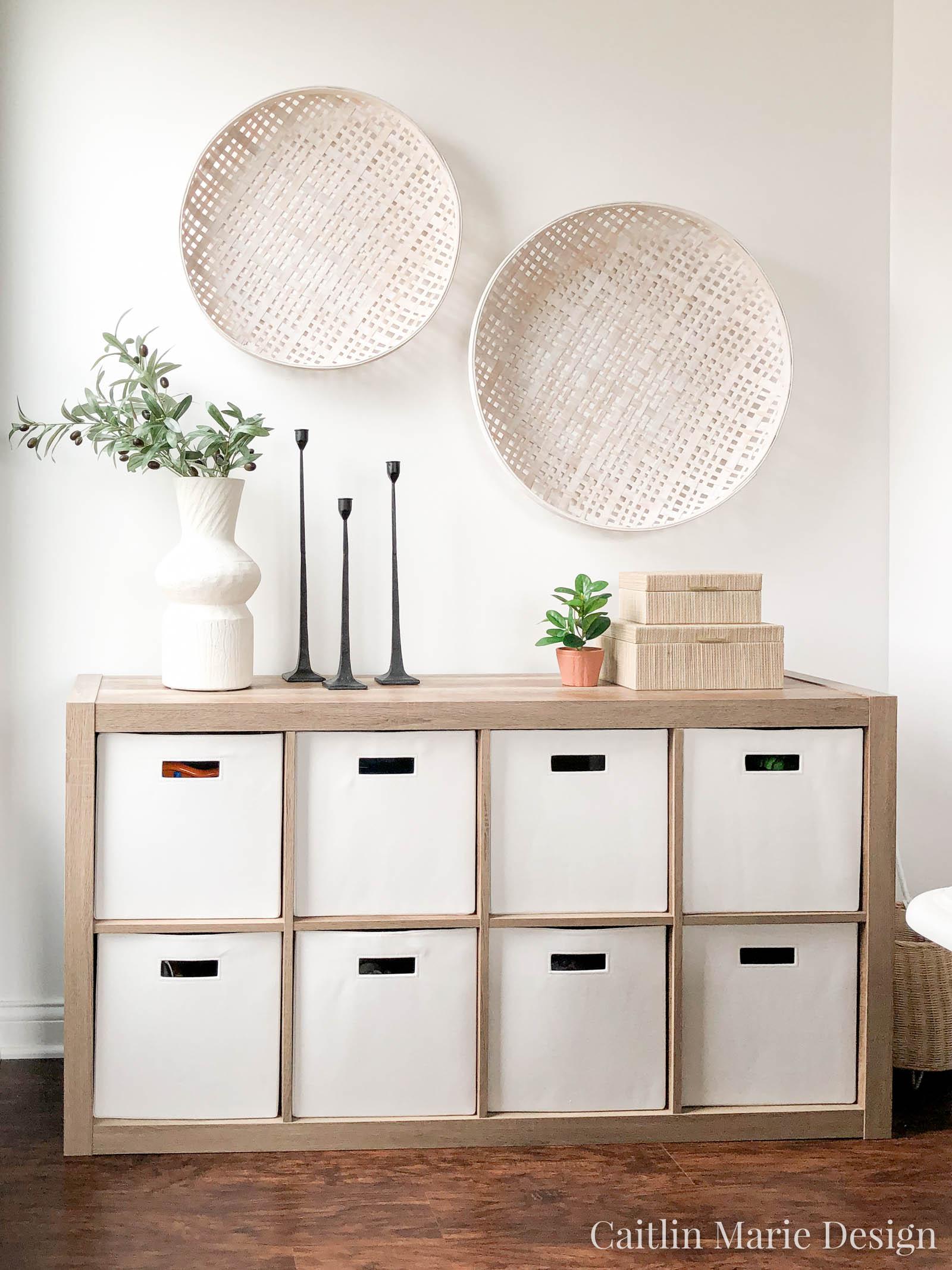 Pretty Toy Storage | cube organizer, toy organization, playroom decor, coastal home, wall baskets, minimalist decor, California casual