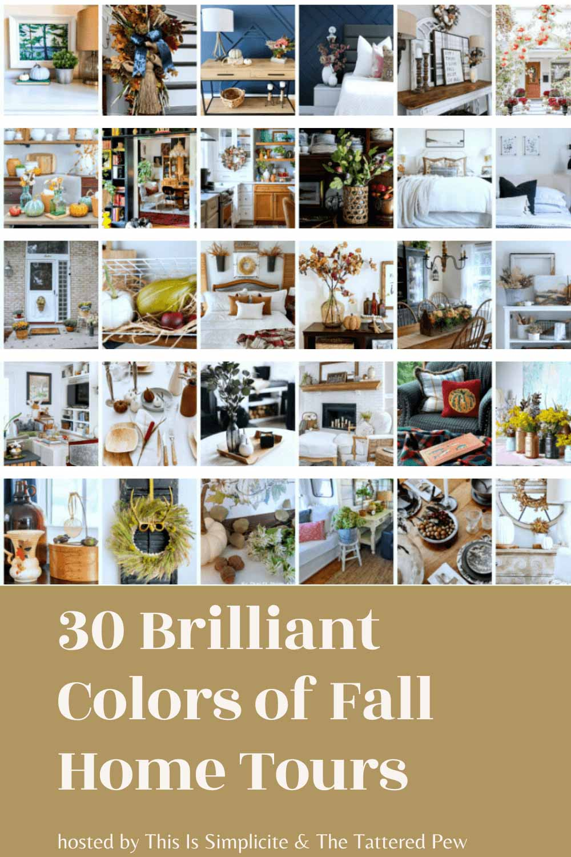 Brilliant Colors of Fall Home Tour blog hop, fall home decor, autumn home, farmhouse fall decor