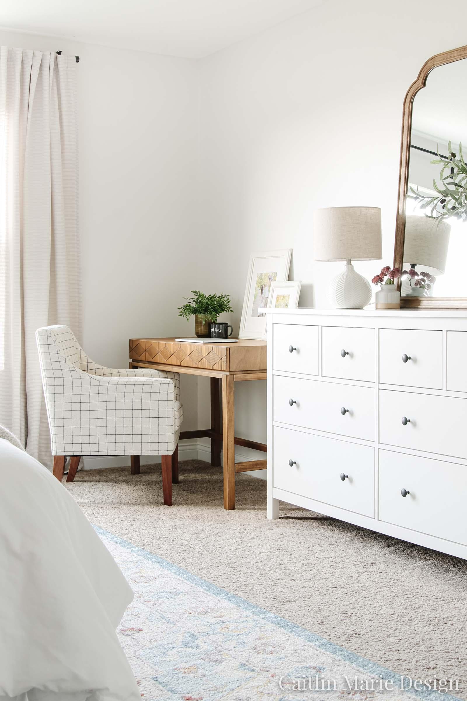 before - desk in bedroom