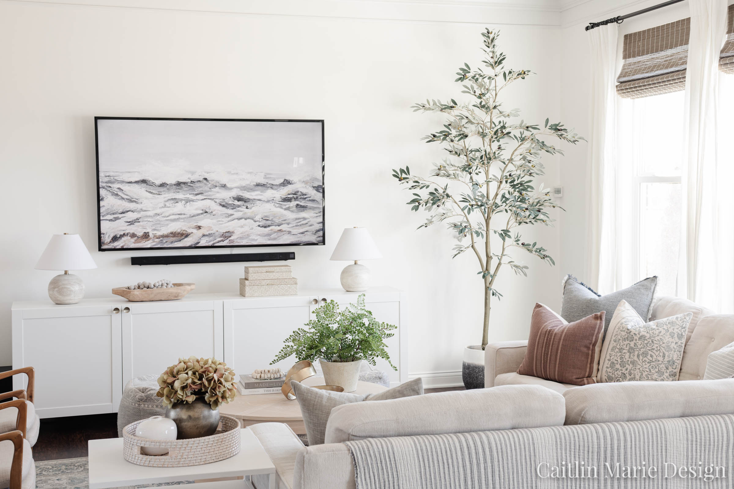 Simple Tv Wall Decor Living Room Update Caitlin Marie Design