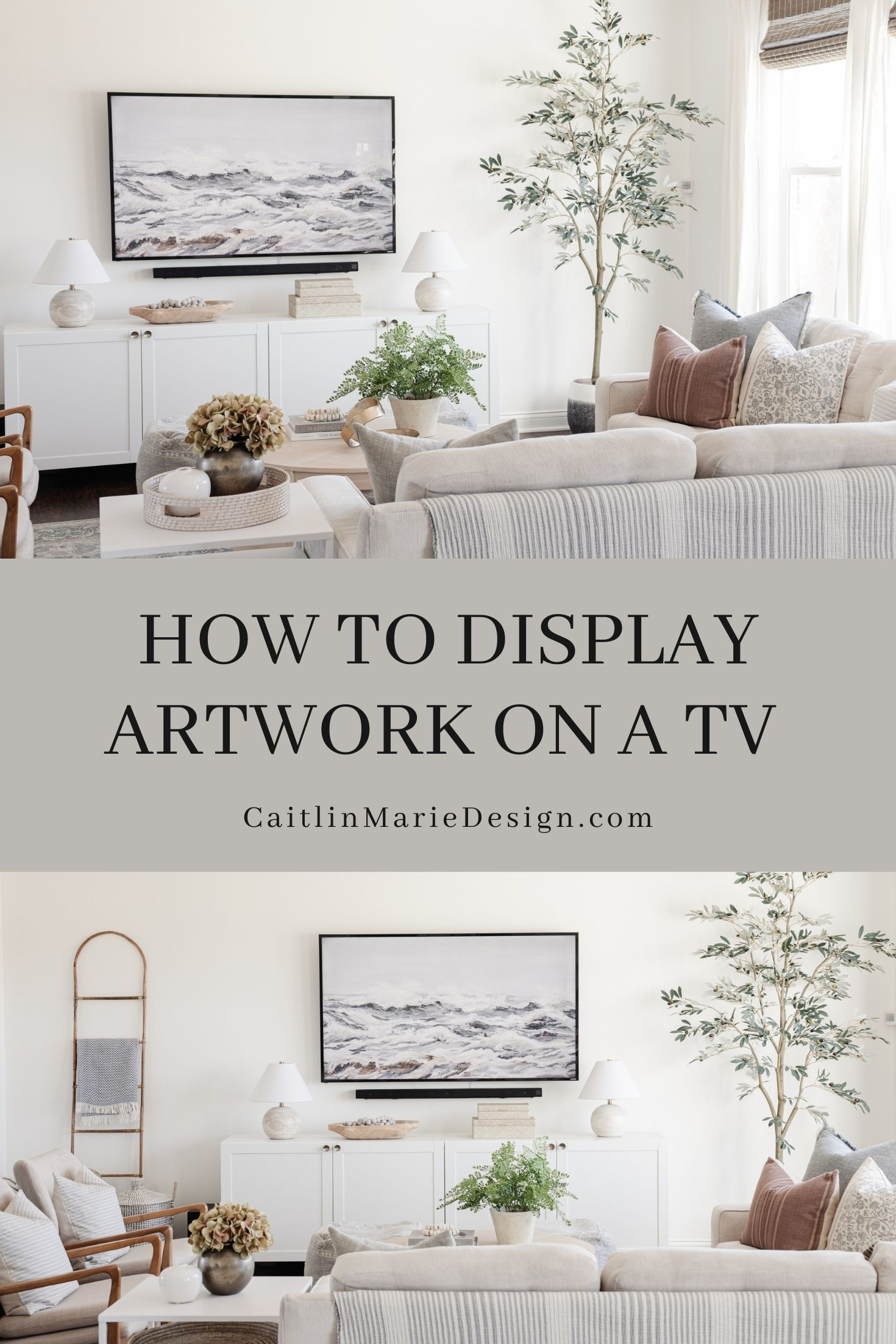 How to Display Artwork on a TV Pinterest Image