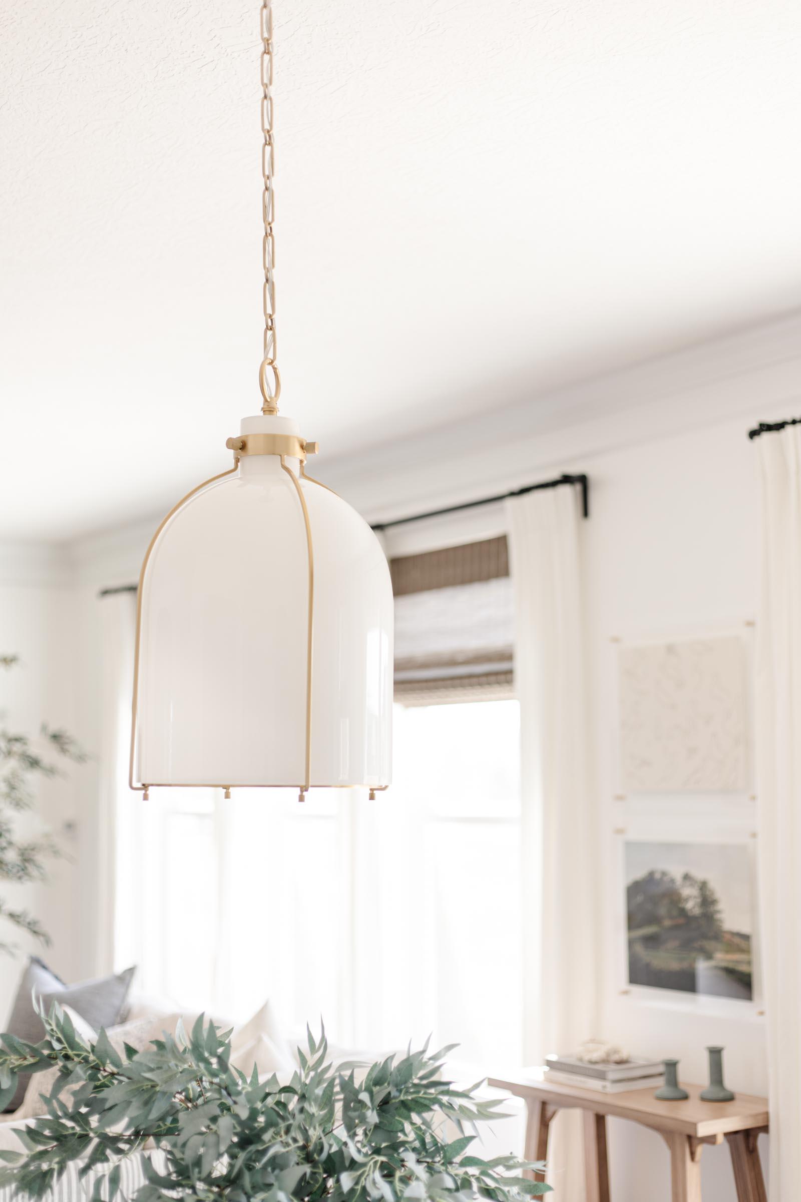 Hudson Valley Lighting Eldridge aged brass pendant