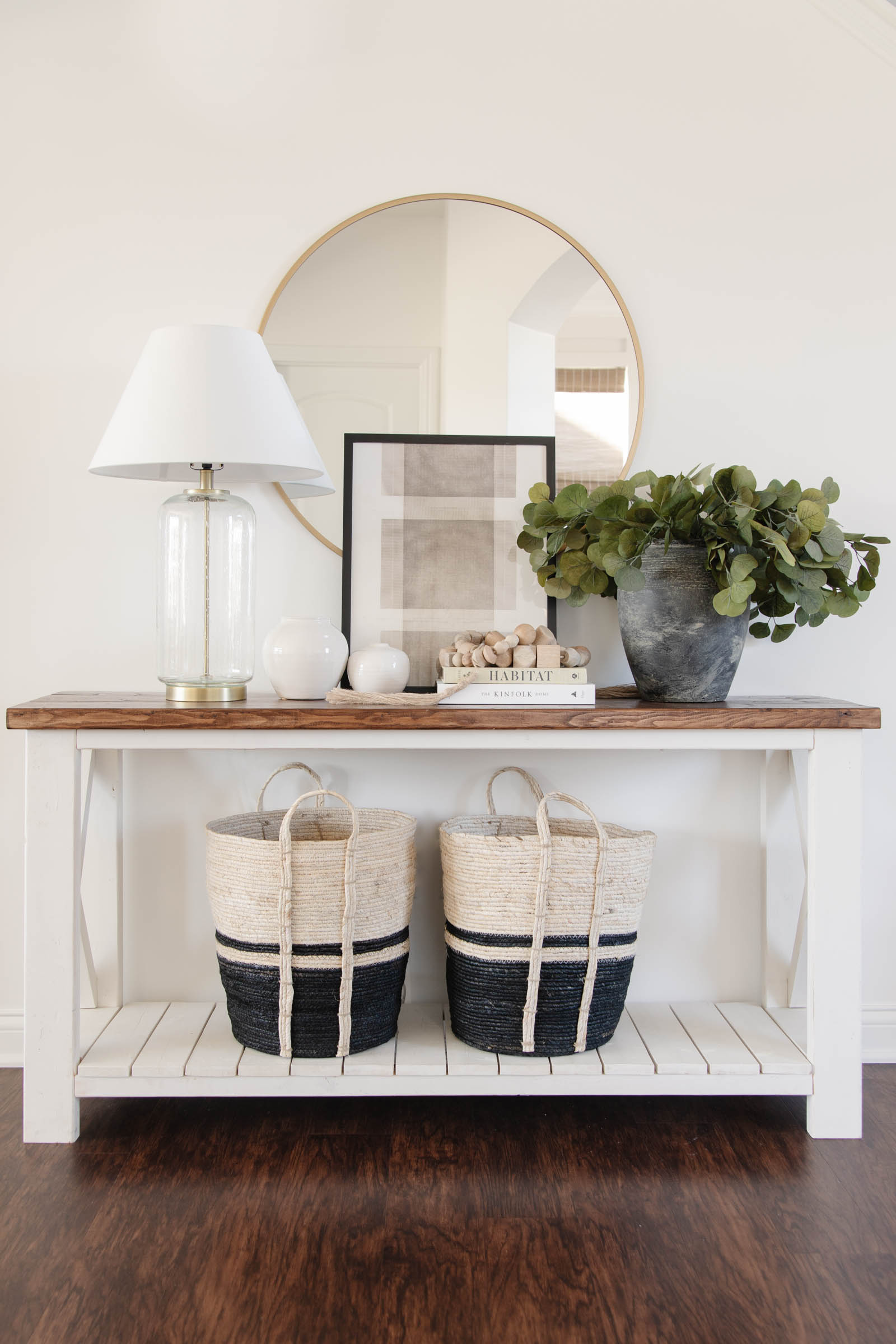Entryway Console Table Styling