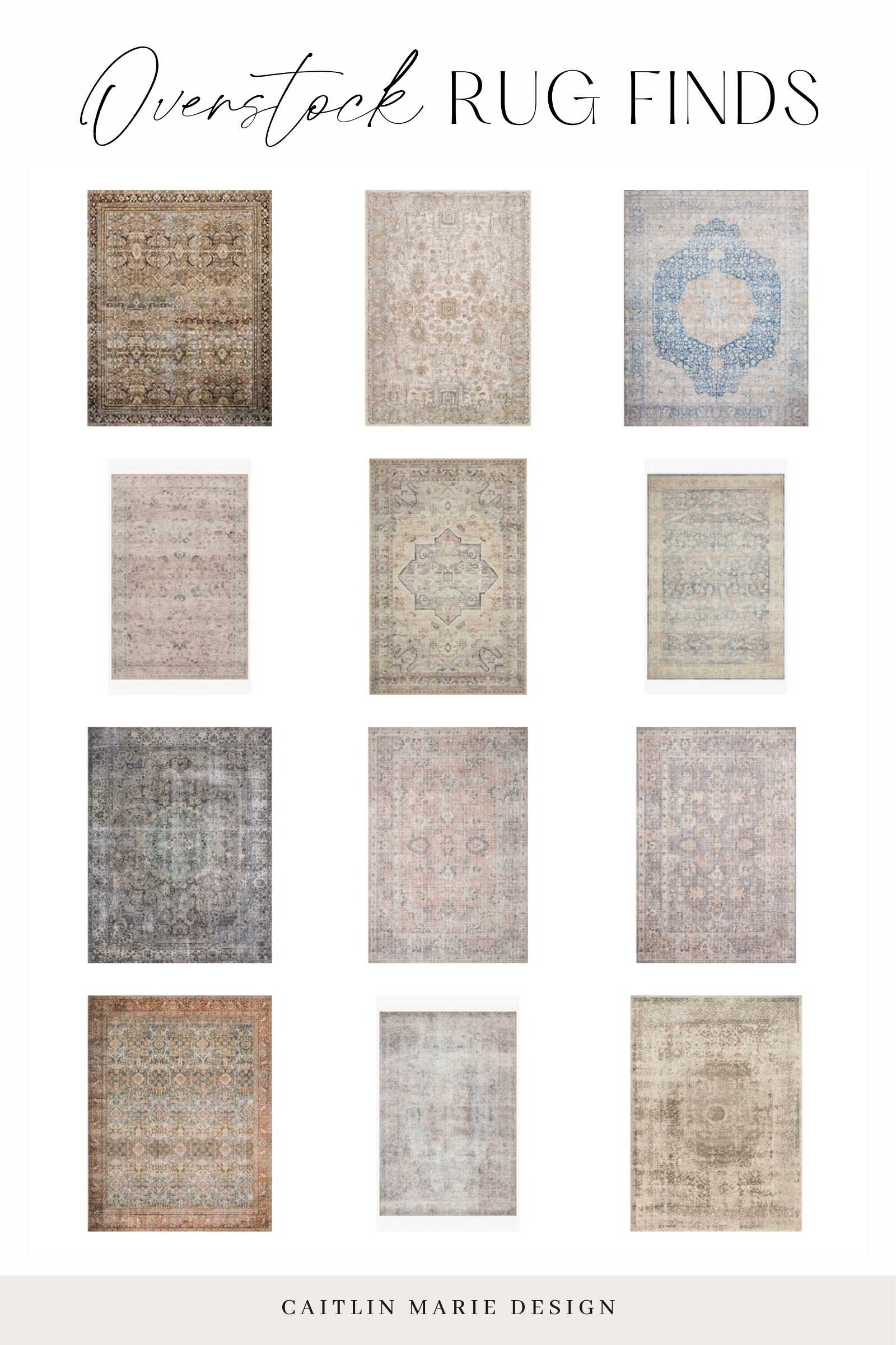 Affordable Area Rugs Roundup - Overstock Rug Finds collage