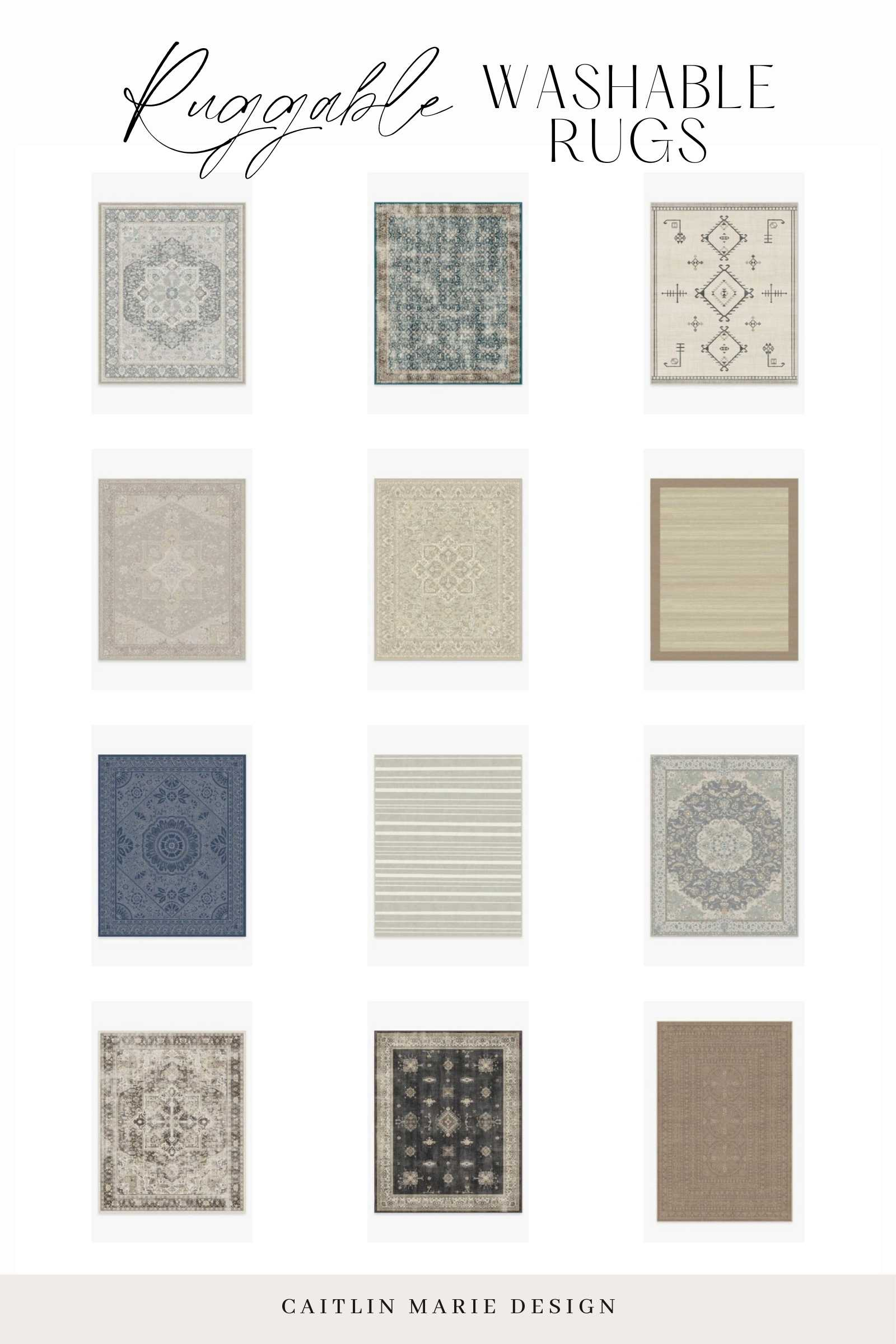 Ruggable Washable Rugs roundup collage