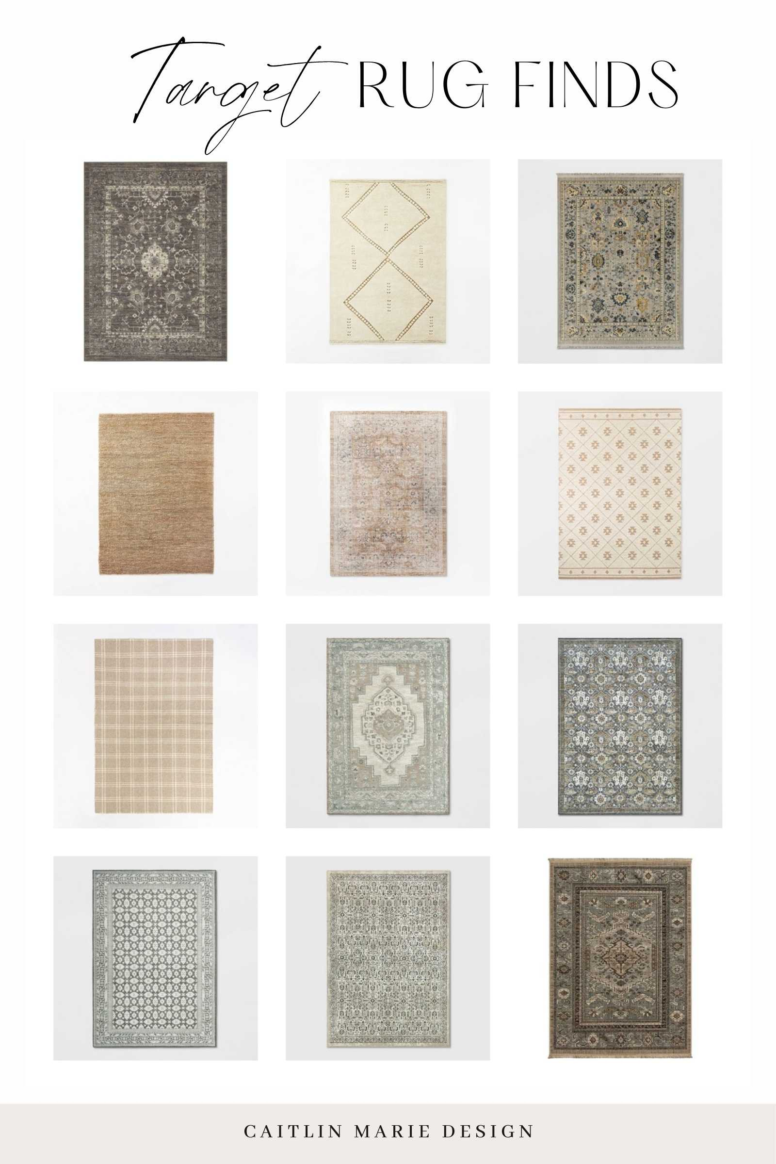 Affordable Rug Roundup - Target rugs collage
