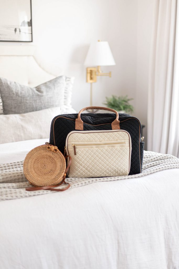 no boundaries quilted weekender, Nicesee Fashion Women Handmade Rattan Woven Straw Bag Bamboo Handbag Beach Tote Bag