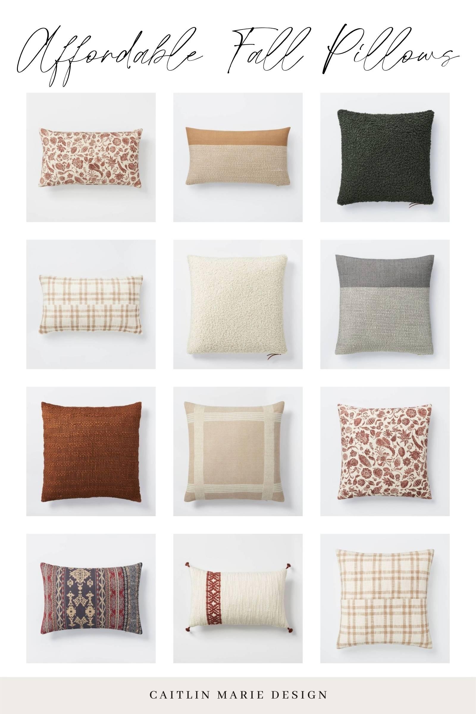 affordable fall pillows - Studio McGee fall decor