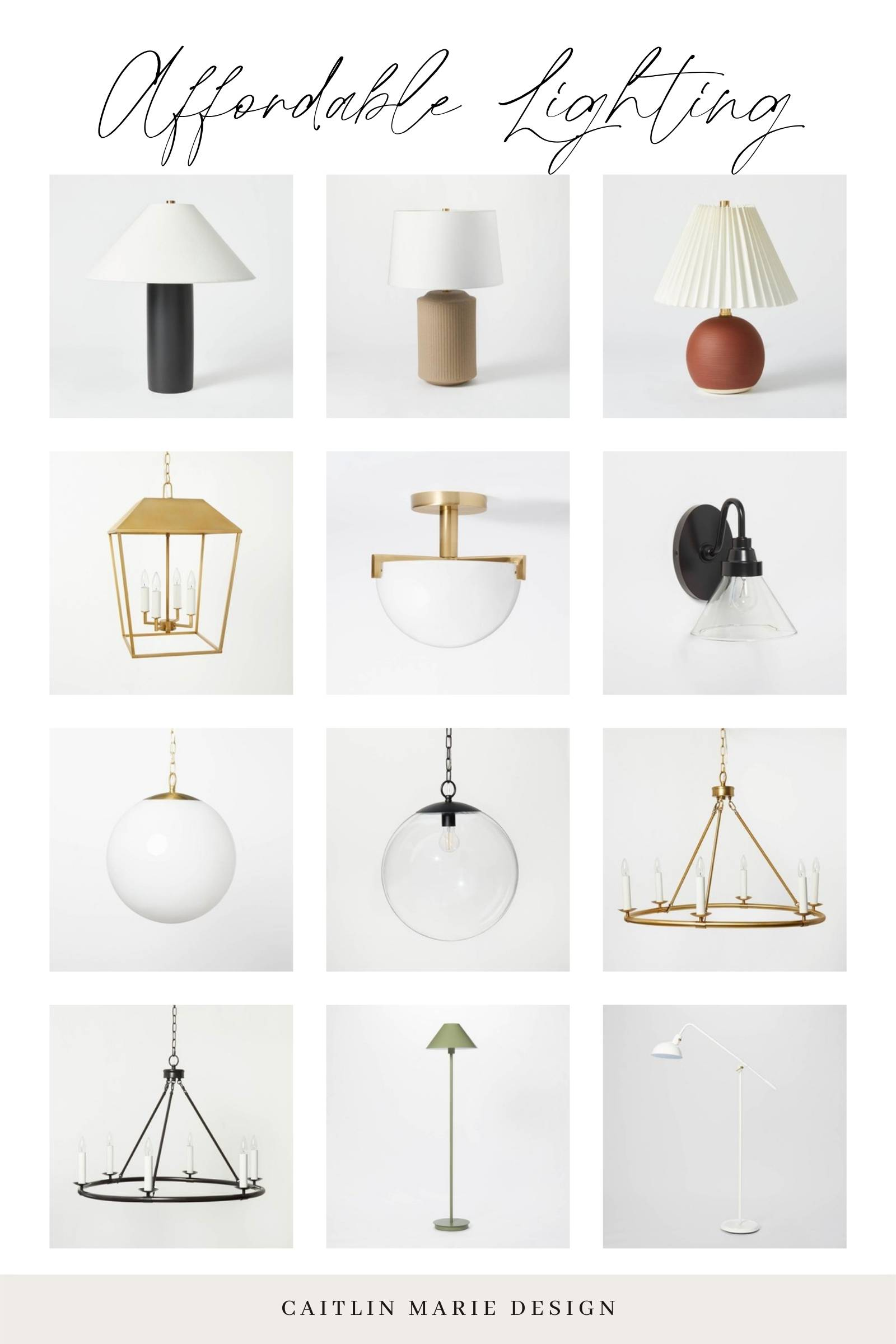 affordable lamps chandeliers and pendants from Target