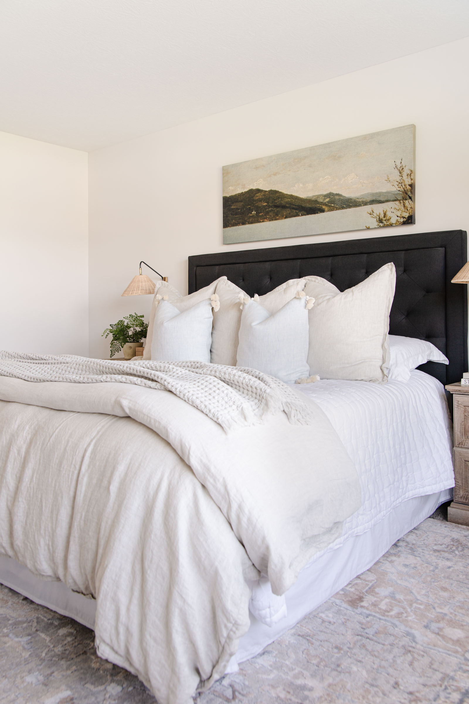 Creating a Bedroom Retreat with Serena and Lily | Sutter linen quilt, Cavallo linen duvet cover, Cayucos pillow cover, neutral bedroom styling