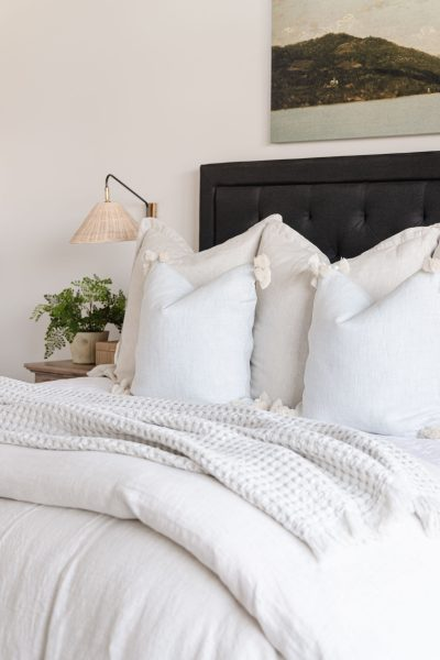 Linen Bedding Refresh with Serena and Lily | Sutter linen quilt, Cavallo linen duvet cover, Cayucos pillow cover, neutral bedroom styling