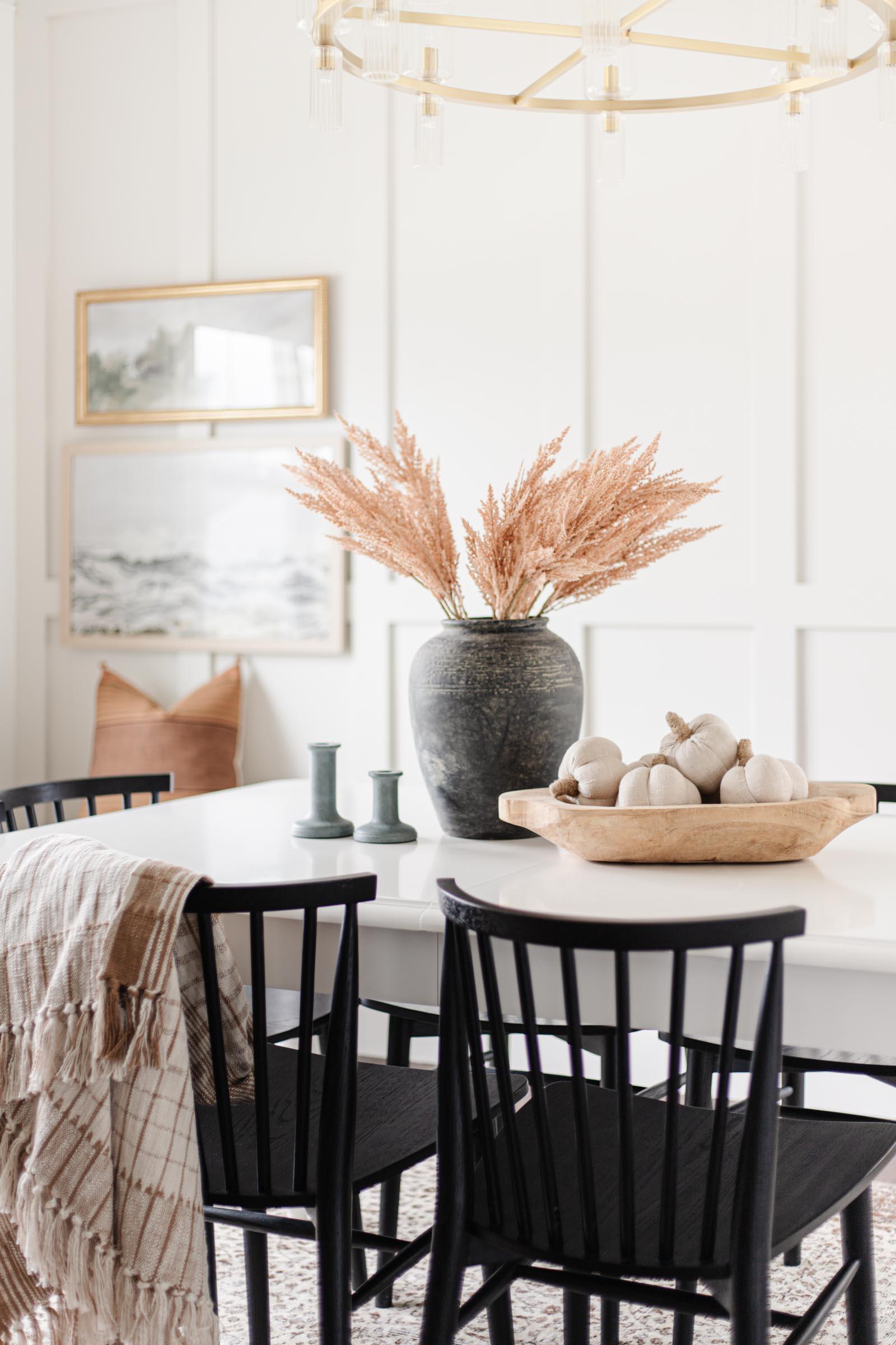 cozy fall dining room