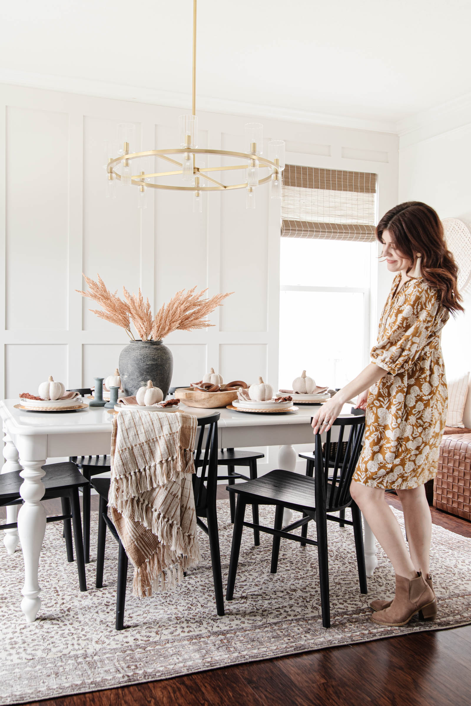 getting ready for fall entertaining, cozy autumn dining room decor